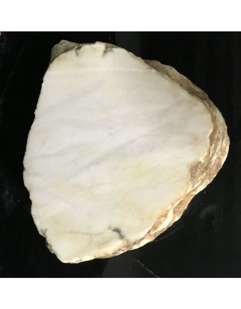 Mother Nature Stone 81lb Tirafsci's White Opaque Slab 18x12x6 #111065