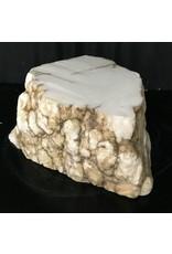 Mother Nature Stone 80lb Tirafsci's White Opaque Slab 18x14x6 #111064