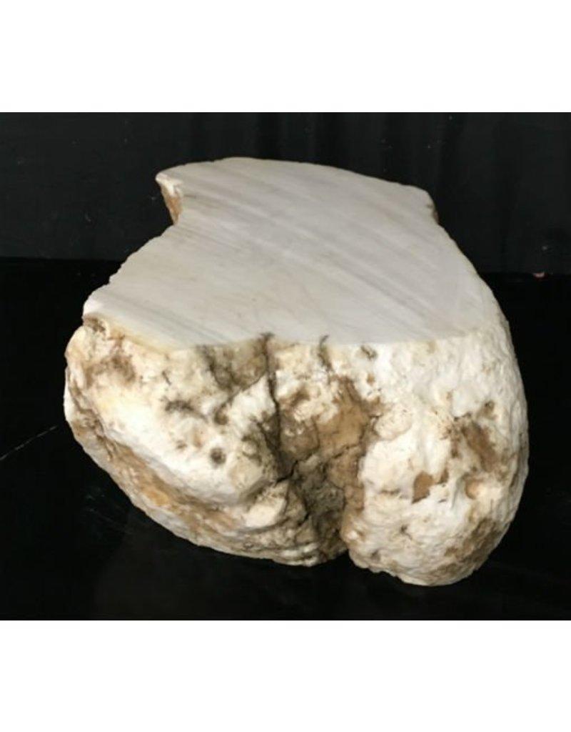 Mother Nature Stone 88lb Tirafsci's White Opaque Slab 20x10x6 #111063