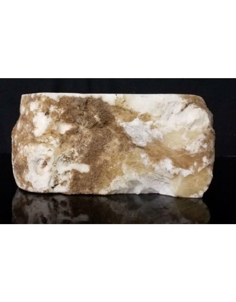 Stone 62lb Tirafsci's White Opaque Slab 15x11x6 #111070