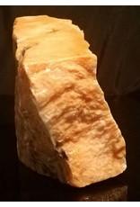 Stone 18lb Orange Translucent Alabaster 11x7x3 #554316