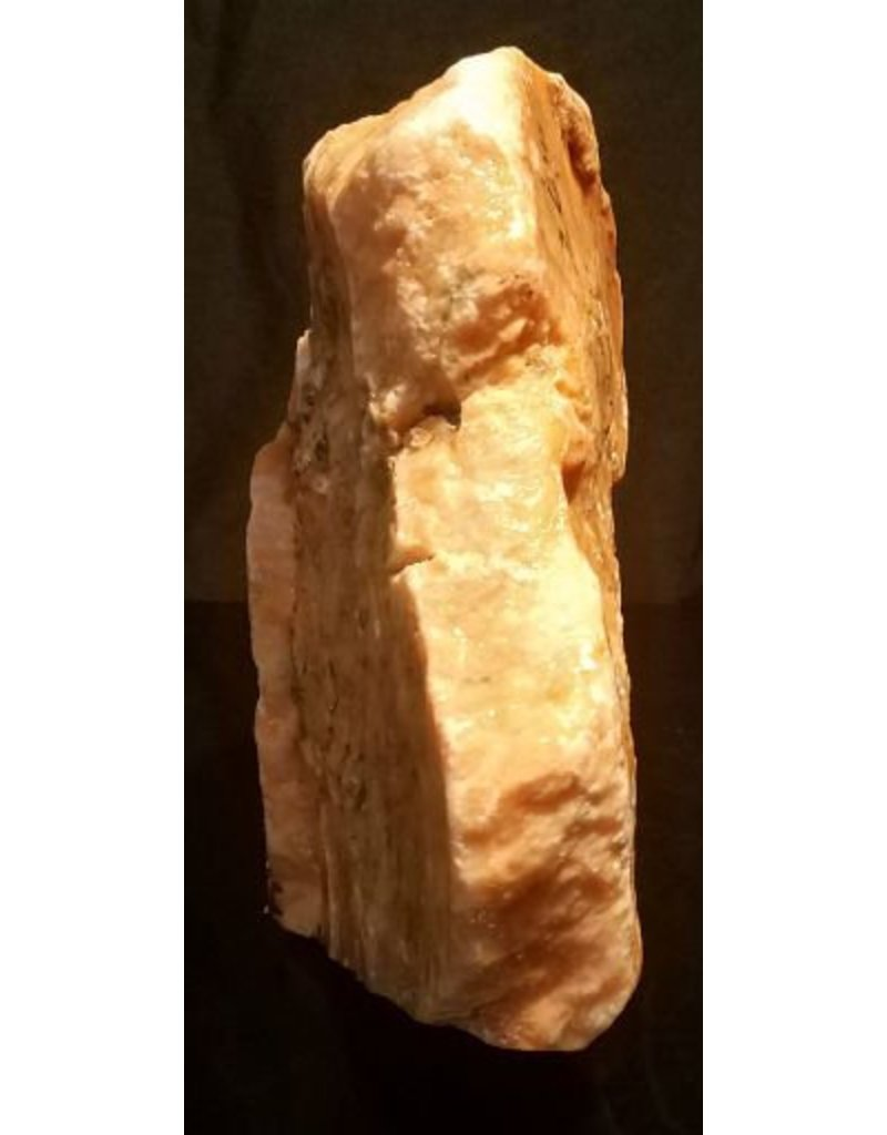 Mother Nature Stone 18lb Orange Translucent Alabaster 13x8x3 #554315