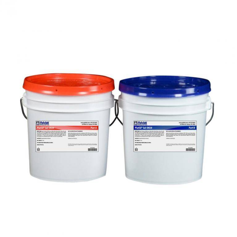 Polytek PlatSil Gel 0020 2 Gallon Kit (16lb)