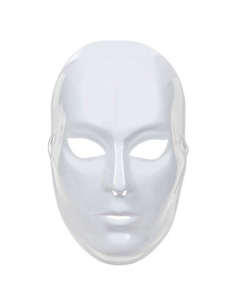 Plastic Full Face Mask - White