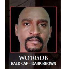 Woochie Latex Bald Cap Dark Brown
