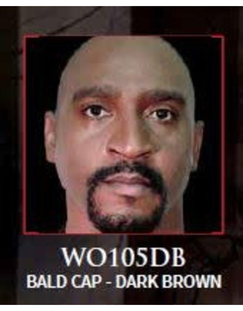 Woochie Latex Bald Cap Dark Brown