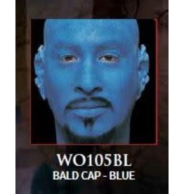 Woochie Latex Bald Cap Blue