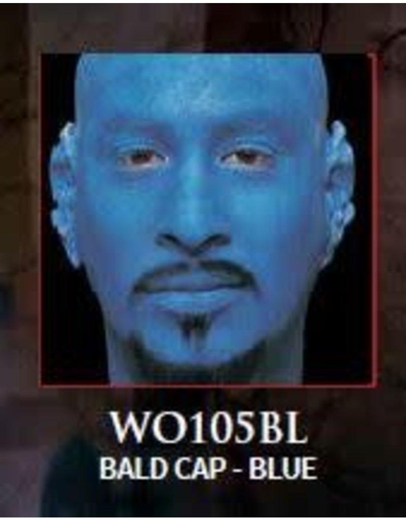 Woochie Latex Bald Cap Blue