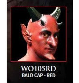 Woochie Latex Bald Cap Red