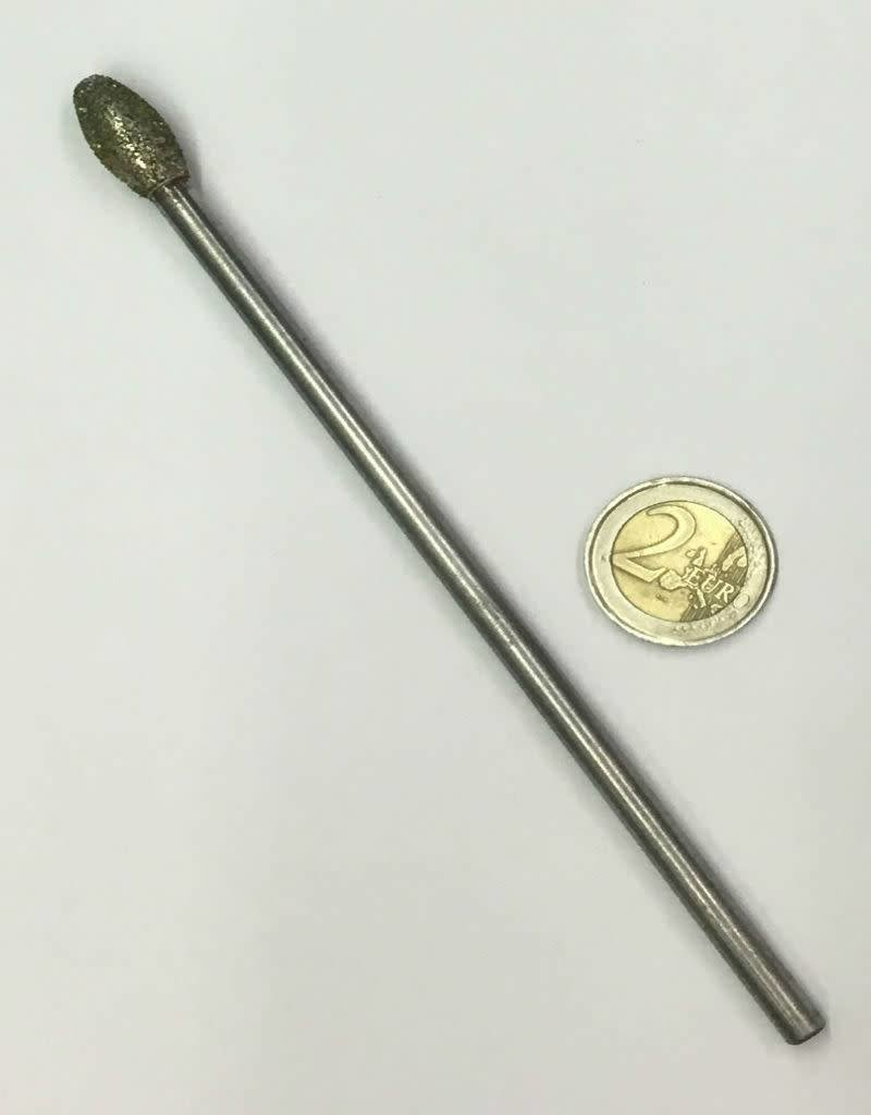 Diamond Burr Flame 10mm -150mm Long Shaft