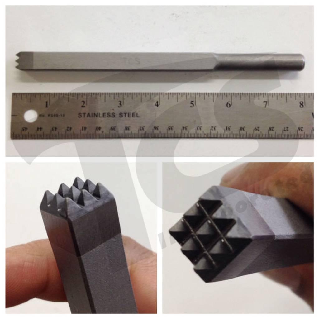 Trow & Holden Carbide Pneumatic 9 Tooth Bushing 1/2'' x 9'' Long x 1/2'' Shank