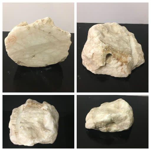 15lb Tirafsci's Opaque White Boulder 9x8x5 #111074