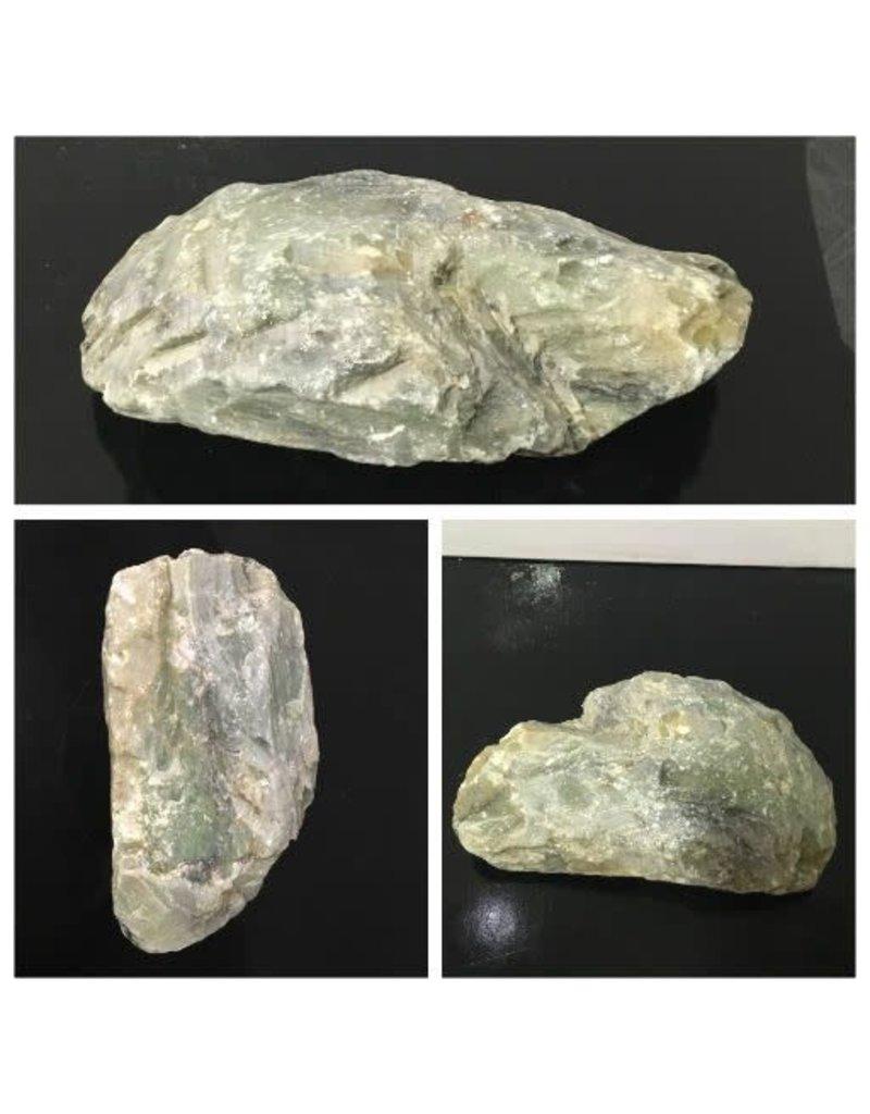 5lb Apple Green Soapstone 8x5x1 #021036