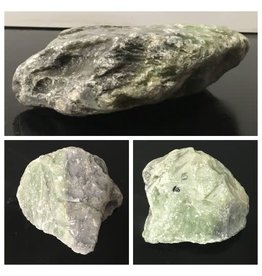 5lb Apple Green Soapstone 7x6x2 #021035