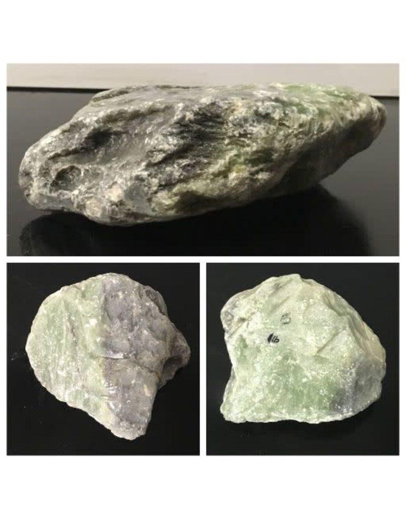5lb Apple Green Soapstone 7x6x2 #021035