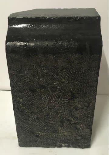 77lb Belgian Black Marble 13x8x6 #001004