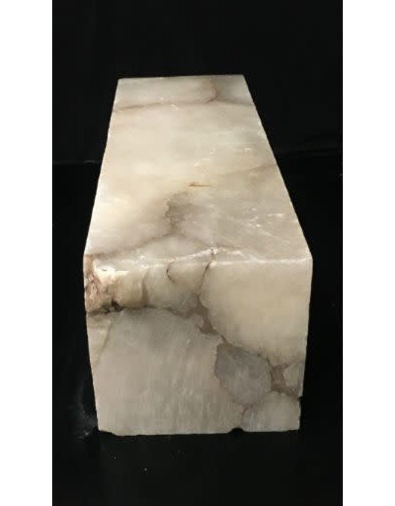 49lb Mario's Translucent White Alabaster 16x5x5 #101075