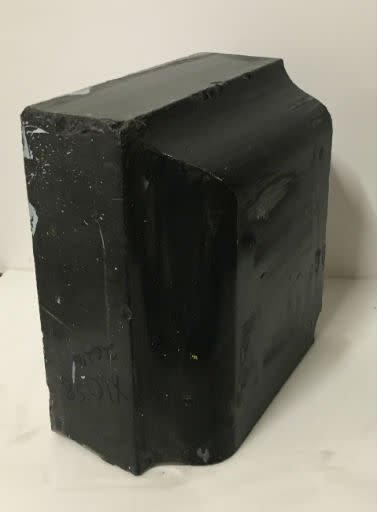 72lb Black Belgian Marble 12x11x6 #001007