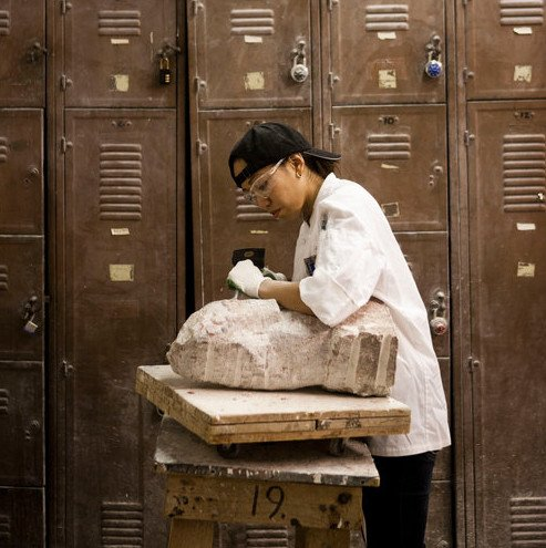 180403 Stone Carving Tuesday Evening Class/April