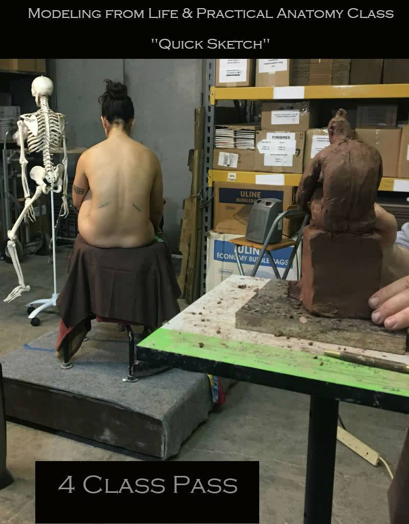 180114 4 Class Pass Sculpting from Life & Practical Anatomy for Artists
