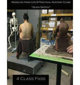 M.W. Ambroise 180114 4 Class Pass Sculpting from Life & Practical Anatomy for Artists