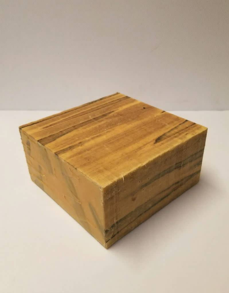 Wood Ambrosia Maple Block 6x6x3""