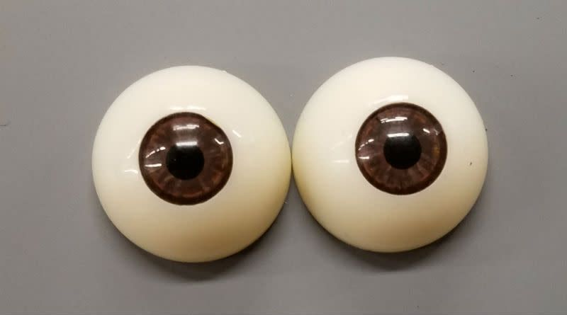 Acrylic Eyes 30mm Brown (Pair)