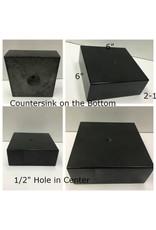 Black Granite Base 6x6x2.25 #991017