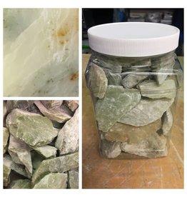 Stone Soapstone Jar 6lbs Green