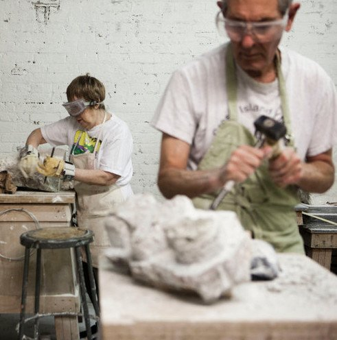 180606 Stone Carving Wednesday Evening Class/June