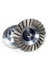 "Medium 60/80 grit 4"" Sintered Turbo Diamond Grinding Wheel"
