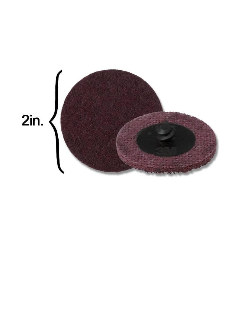 3M Scotch-Brite Disk 2'' ROLOC Medium Maroon (10 Pack)