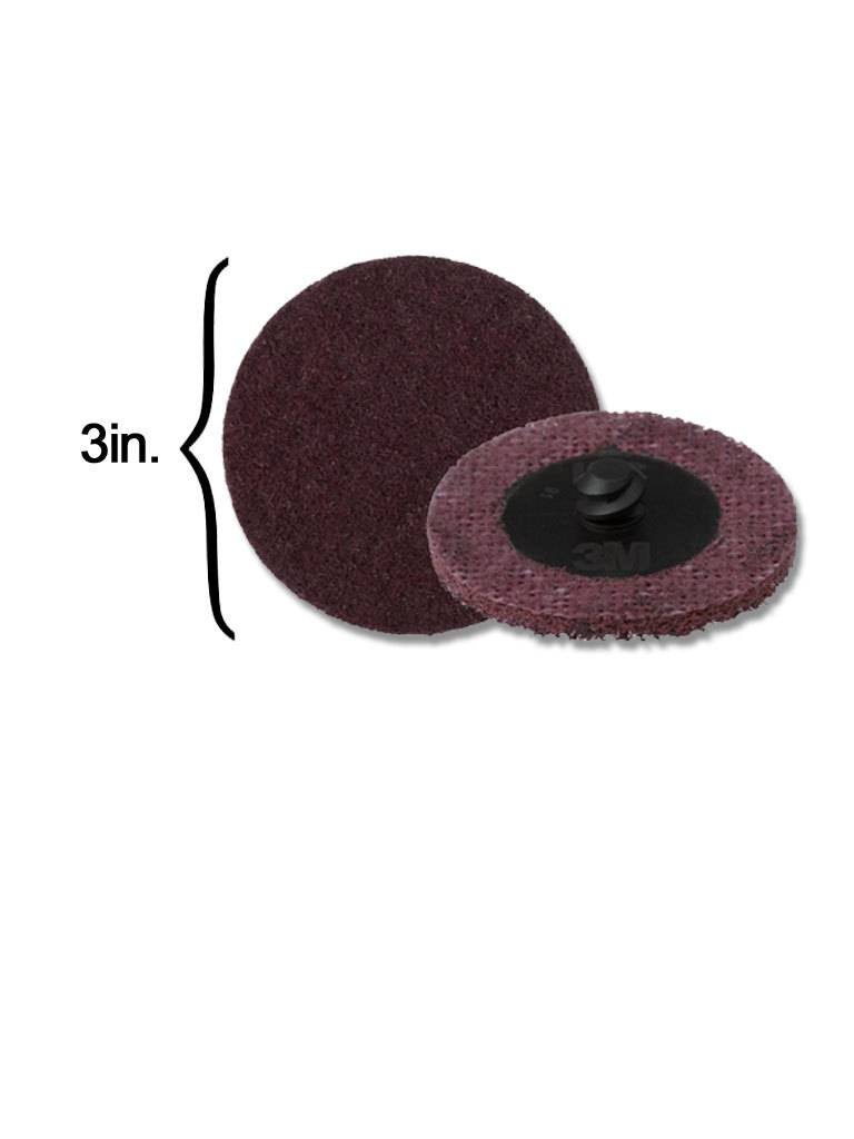 3M Scotch-Brite Disk 3'' ROLOC Medium Maroon (10 Pack)