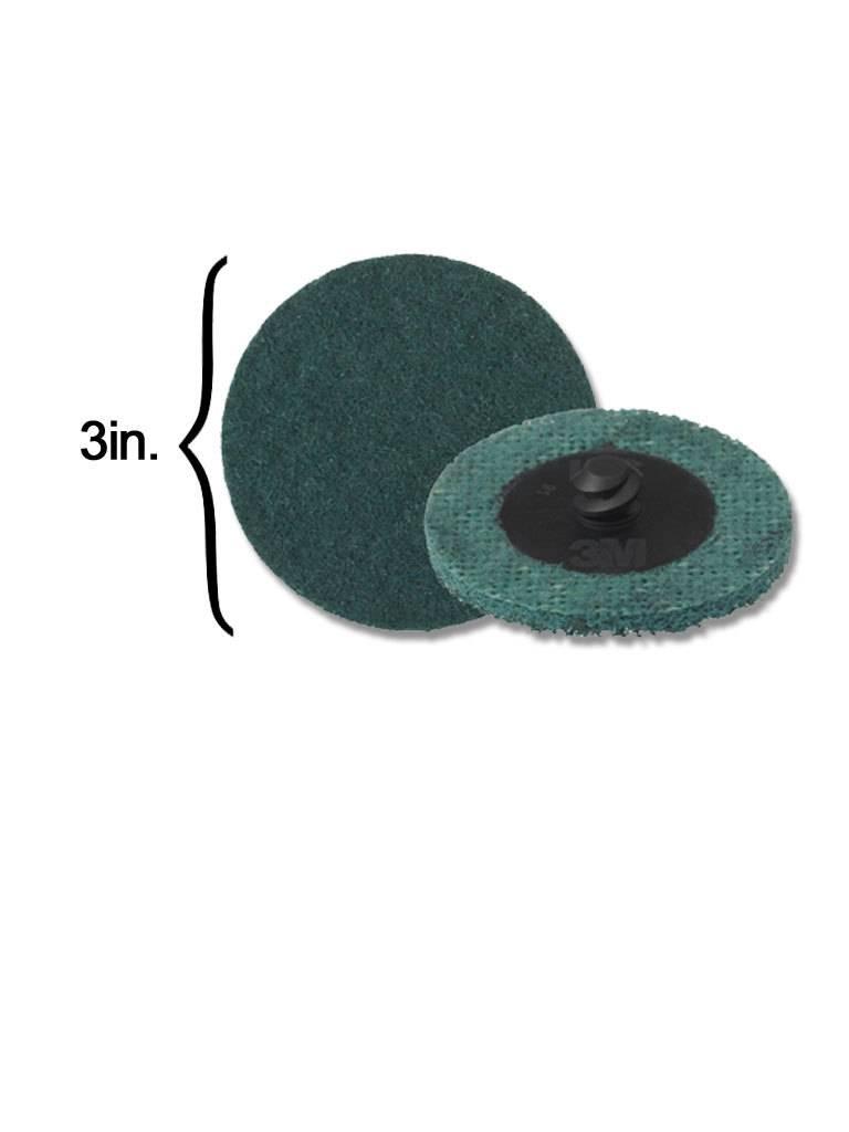 3M Scotch-Brite Disk 3'' ROLOC Very Fine Blue (10 Pack)