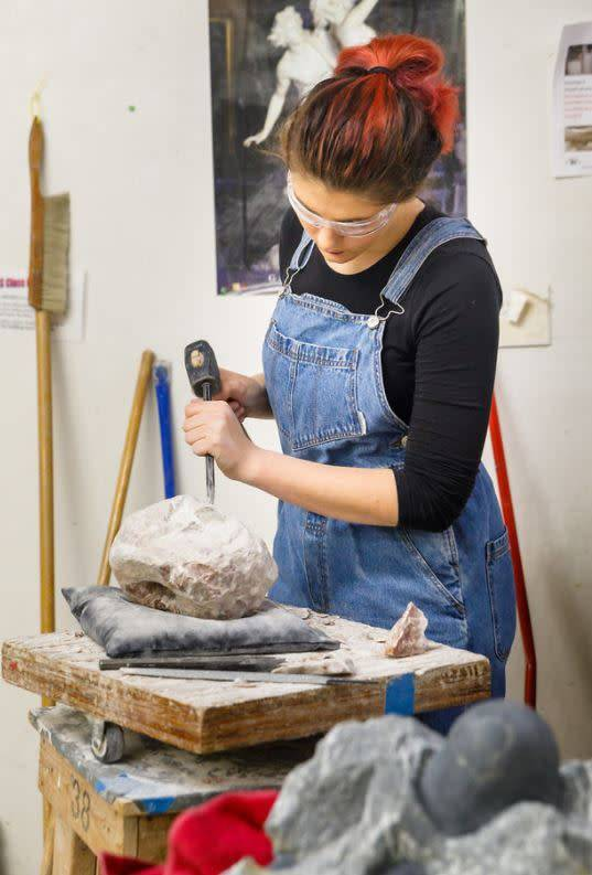 180605 Stone Carving Tuesday Evening Class/June