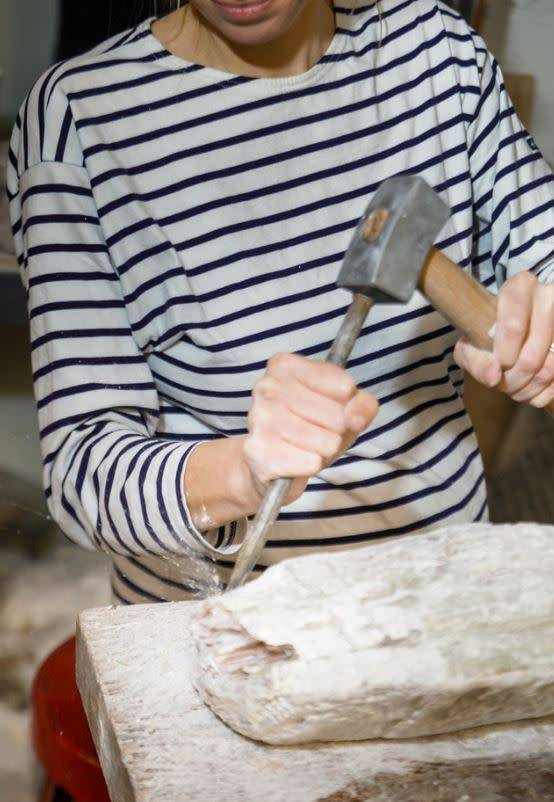 180703 Stone Carving Tuesday Evening Class/July