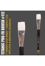 "Pro-FX Brush No.112  - 1"" Square Adhesive / Remover Brush"
