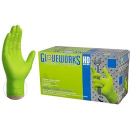 Nitrile HD Green Gloves Large Box