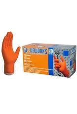 Nitrile HD Orange Gloves Large Box