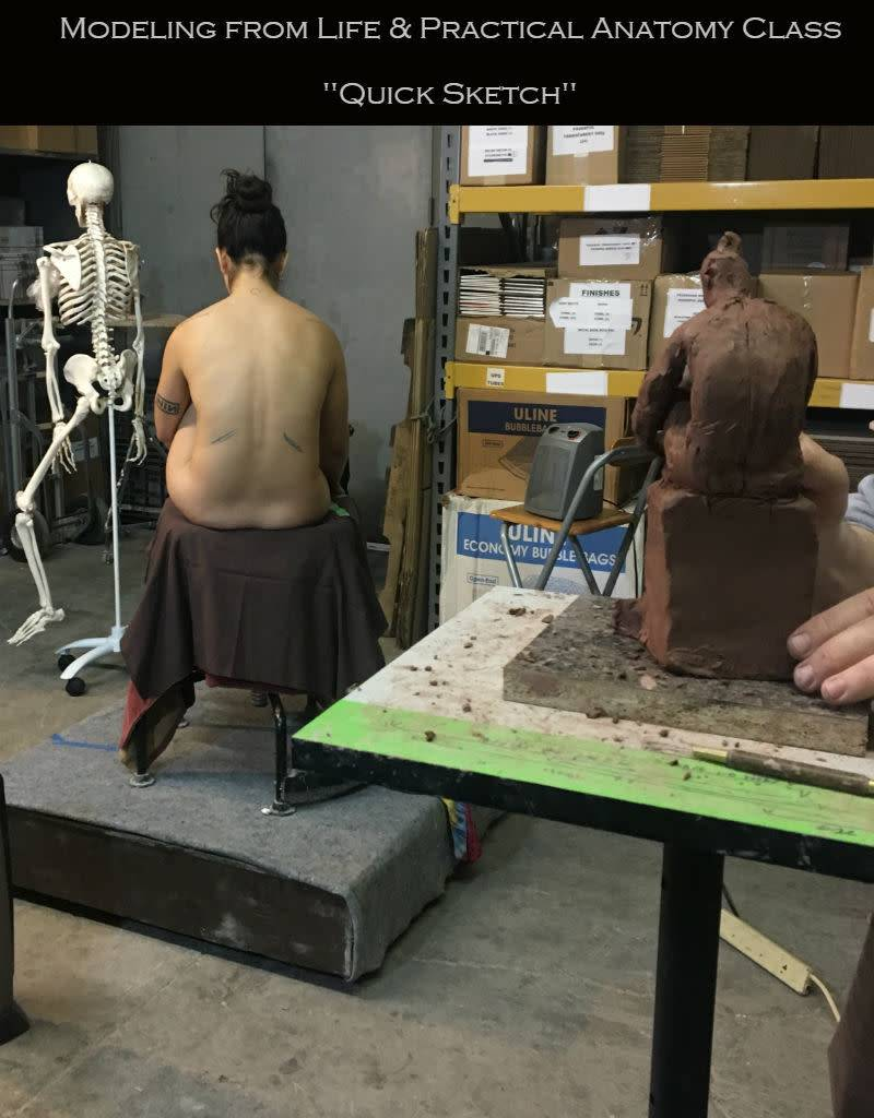 180715 The Quick Sketch: Sculpting from Life & Practical Anatomy for Artists Class