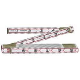 6' Engineers Scale Wood Ruler
