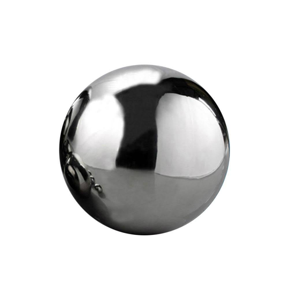Silver Mirror Finish Stainless Steel Sphere 8cm (4in)