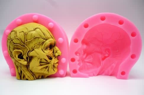 Silicone Mold Anatomical Head (2 part)