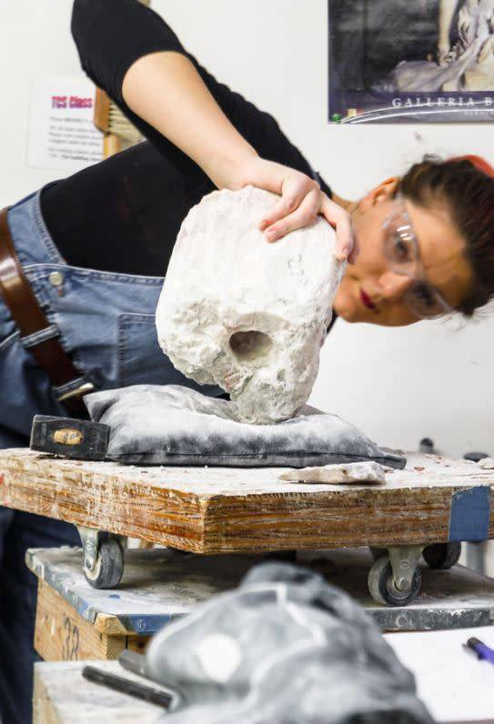 180801 Stone Carving Wednesday Afternoon Class/August