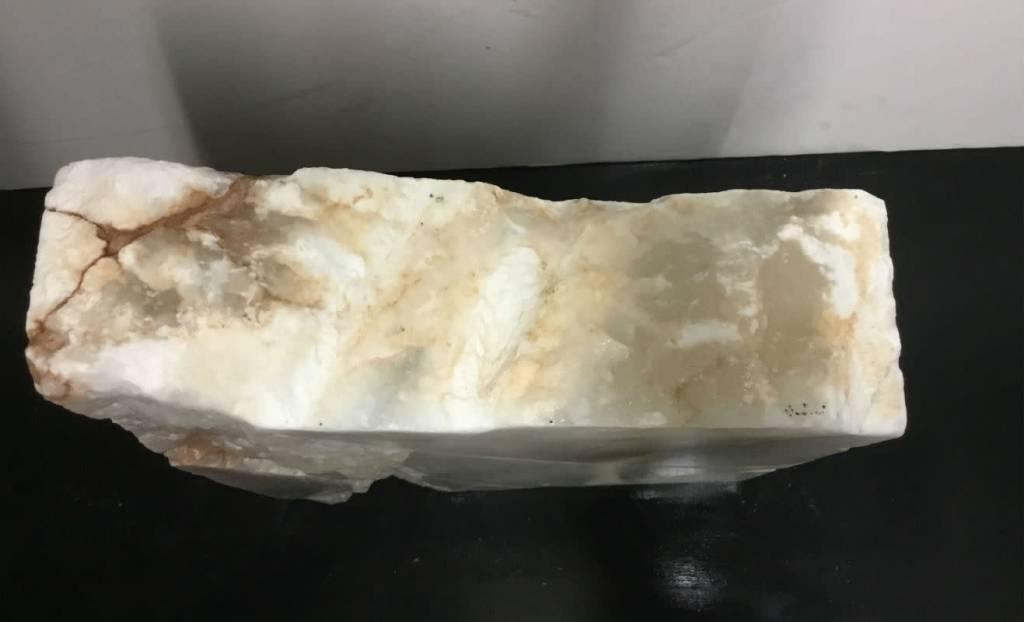 46lb Mario's White Translucent Alabaster 14x11x4 #101079