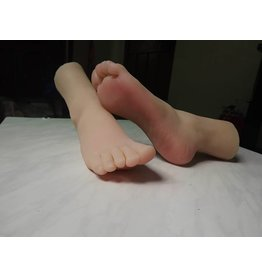 Silicone Feet With Calf Bone Female Pair