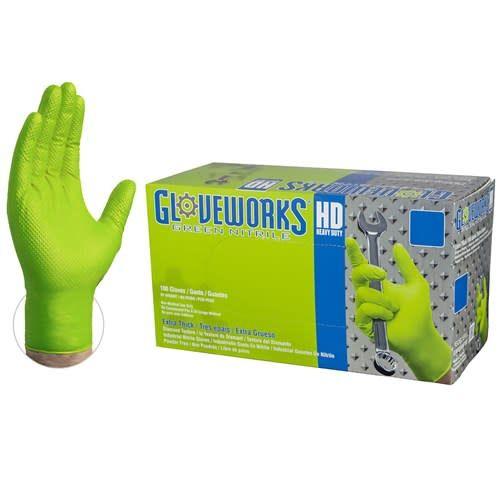 Nitrile HD Green Gloves Large Box