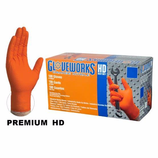 Nitrile HD Orange Gloves X-Large Box