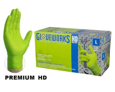 Nitrile HD Green Gloves X-Large Box