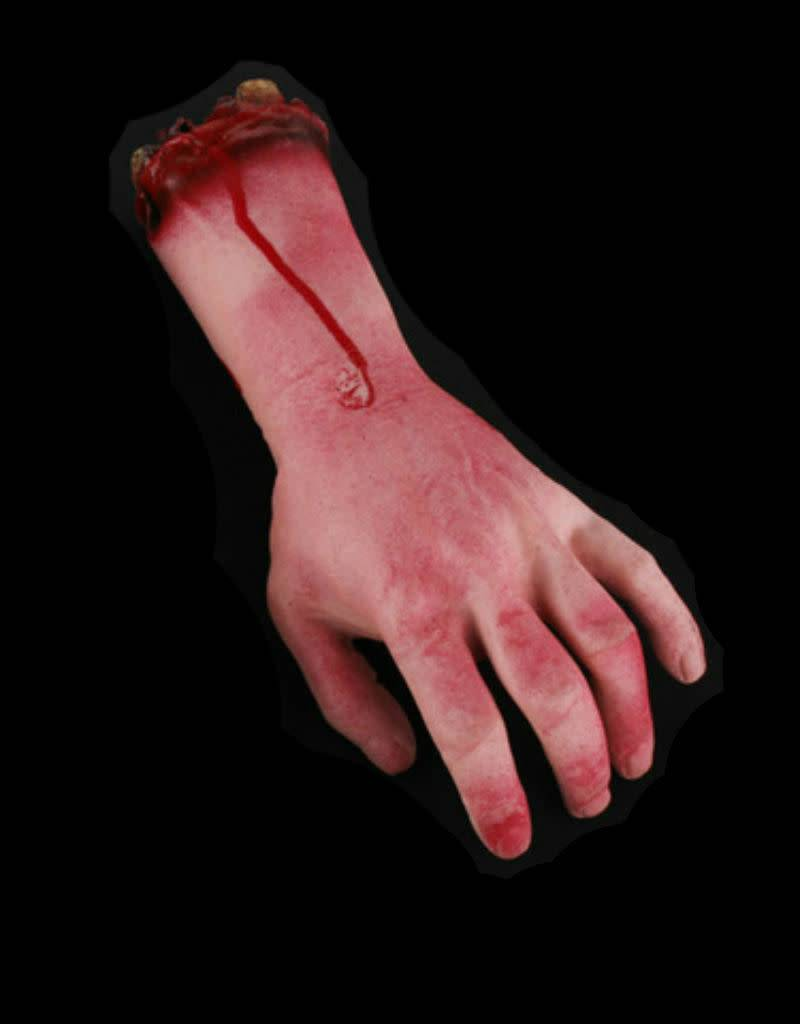 Severed Bloody Left Hand Latex Foam